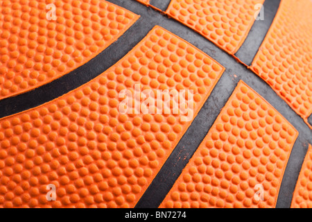 Basket-ball orange gros plan