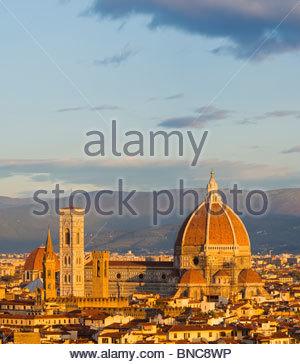 La Cathédrale (Basilique de Santa Maria del Fiore), Florence, Toscane, Italie. Banque D'Images