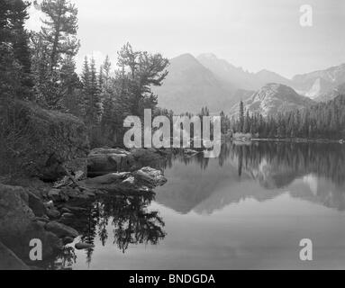 Lac de l'ours Rocky Mountain National Park Colorado USA Banque D'Images