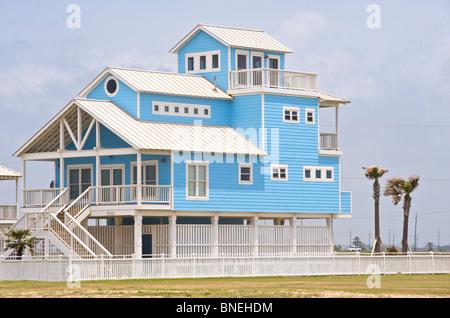 L'architecture typique de maisons en Galveston, Texas, North Texas, USA