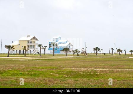 L'architecture typique de maisons en Galveston, Texas, États-Unis