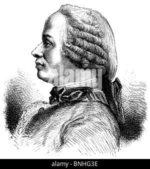 Jean Le Rond d'Alembert (16 novembre 1717 - 29 octobre 1783), mathématicien français, scientifique américain, physicien Banque D'Images