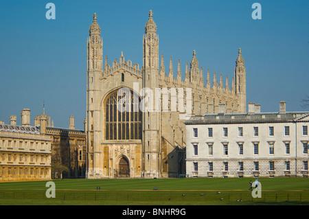 Europe Royaume-Uni Angleterre Cambridgeshire Cambridge Kings College Chapel Ville Ville historique de l'Université Banque D'Images