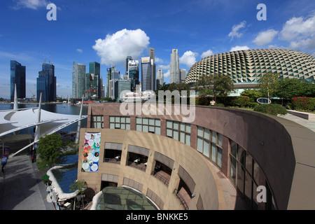 Singapour, ville vu de Esplanade Theatre
