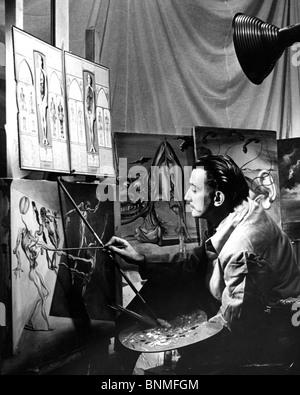 SALVADOR DALI (1984-1989) artiste espagnol travailler tout en vivant aux Etats-Unis en 1940 - voir description ci Banque D'Images