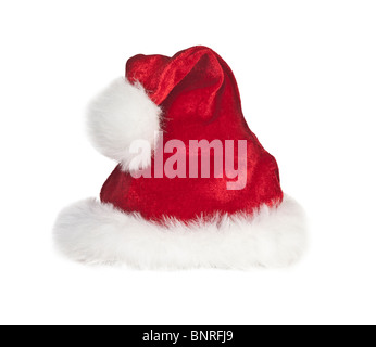 Christmas santa hat style tourné sur blanc .