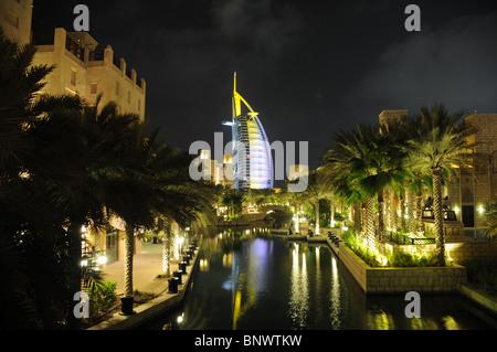 La tour Burj al Arab Dubai Banque D'Images