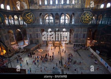 À l'intérieur de la basilique Sainte-Sophie à Istanbul, Turquie Banque D'Images