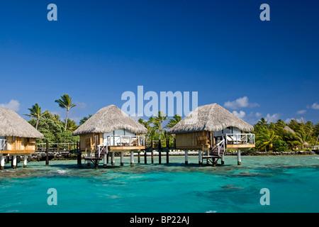 Resort sur l'île de Manihi, Manihi, Polynésie Française