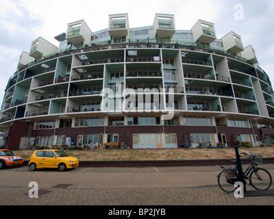 L'architecture moderne du nouvel immeuble d'appartements sur l'île de Java nouvelle propriété development à Amsterdam Banque D'Images