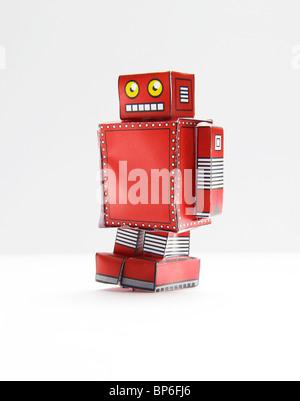 Robot jouet drôle Banque D'Images