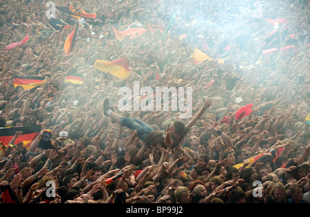 Un match de Championnat d'Europe de football entre l'Allemagne et la Pologne, Nuremberg, Allemagne