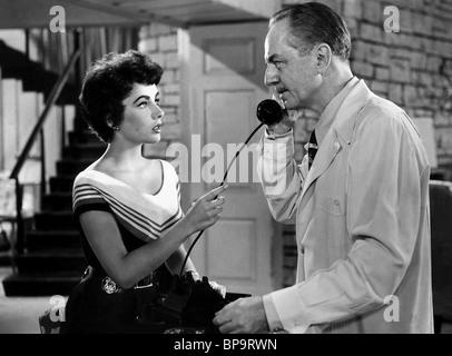 ELIZABETH TAYLOR ET WILLIAM POWELL LA FILLE QUI AVAIT TOUT (1953) Banque D'Images