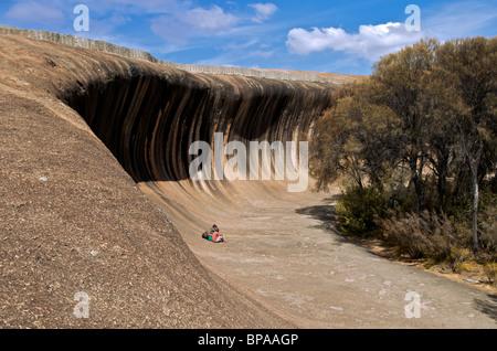Les modèles Wave Rock Hyden Australie Occidentale Banque D'Images