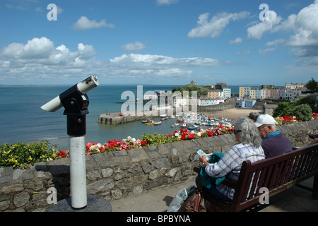 Port de Tenby, Pembrokeshire, Pays de Galles, Royaume-Uni