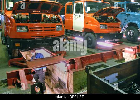 L'usine ZIL produit des camions Banque D'Images
