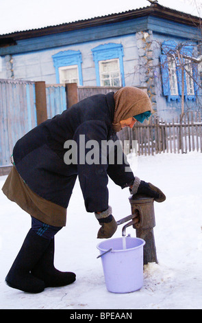 La vie quotidienne des villageois de Sibérie Banque D'Images