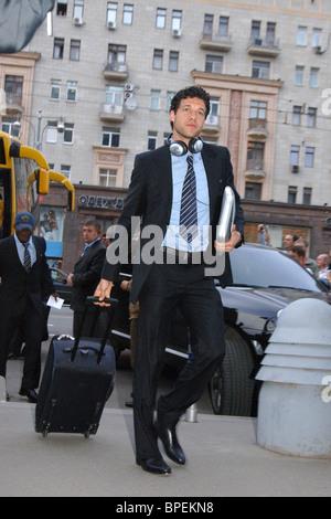 Chelsea arrive à Moscou Banque D'Images