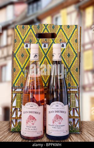 Deux bouteilles de vin Banque D'Images