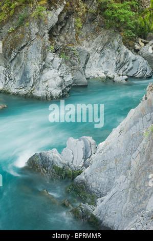 Goblin's Gate, canyon étroit sur la rivière Elwha, Olympic National Park, Washington USA Banque D'Images