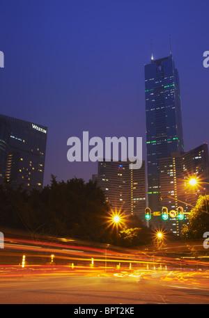 Citic Plaza, Tianhe, Guangzhou, province de Guangdong, Chine Banque D'Images