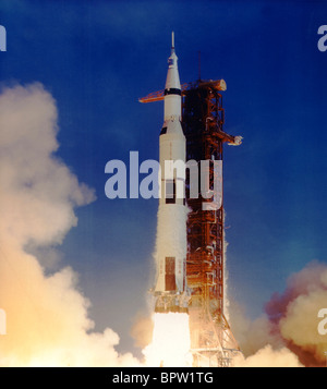 Lancement d'une fusée Saturn Apollo 11 (1969) Banque D'Images