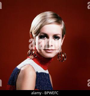 Modèle TWIGGY et actrice (1968) Banque D'Images