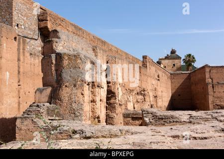Ruines du palais El Badi, Marrakech (Marrakech), le Maroc, l'Afrique du Nord Banque D'Images