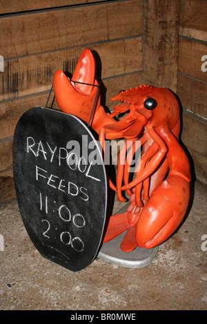 Sculpture en plastique Red Lobster Aquarium Ray Publicité Extérieure Rss Banque D'Images