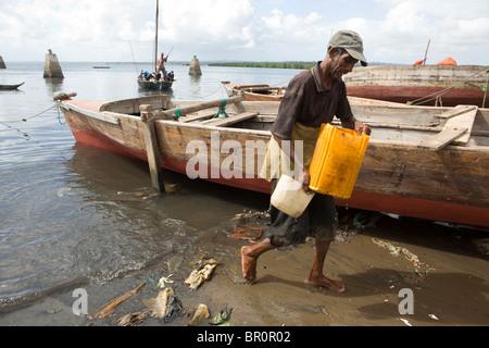 Harbour - Stonetown, Zanzibar, Tanzanie. Banque D'Images