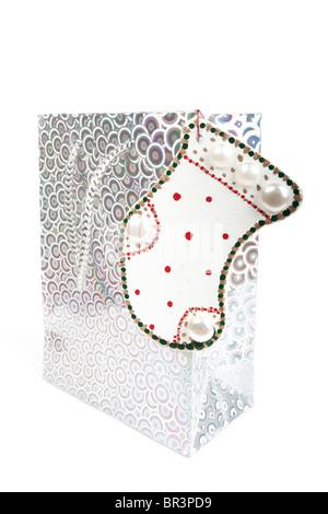 Noël décoration avec sac cadeau Banque D'Images