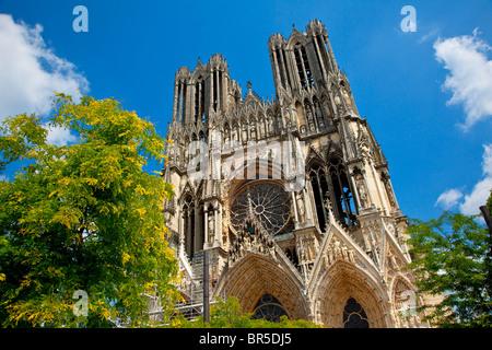 Europe, France, Marne (51), Notre-Dame de Reims, inscrite au Patrimoine Mondial de l'UNESCO
