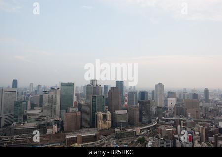 Avis de Umeda Sky Building d'Osaka, au Japon. Banque D'Images