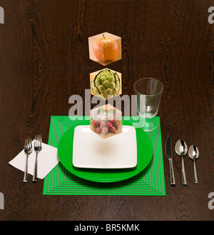 Les blocs alimentation flottante pour afficher les blocs de construction de votre régime. Banque D'Images