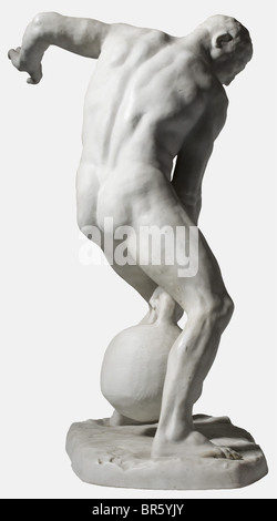 Professeur Ernst Seger (1868 - 1939), leveur de poids porcelaine Bisque. Monogramme sculpté 'E.S.' sur le plinthe, Banque D'Images