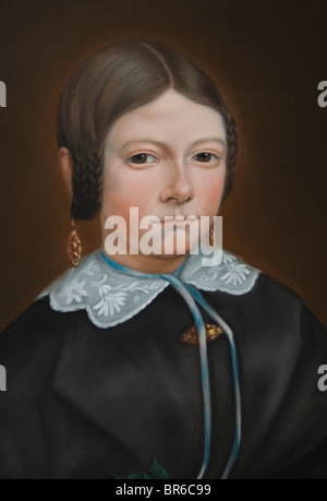 Pays-bas J.A.M.Haak Peinture Klaaske Willems Bootsma 1860 Sneek Friesland Banque D'Images