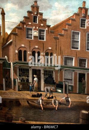 Pays-bas Frise Lodewijk Philip Munster 1789 Peinture Hatter Blanchisserie Sneek Toussaint Vlink Banque D'Images