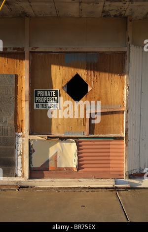 Bâtiment abandonné détail Banque D'Images