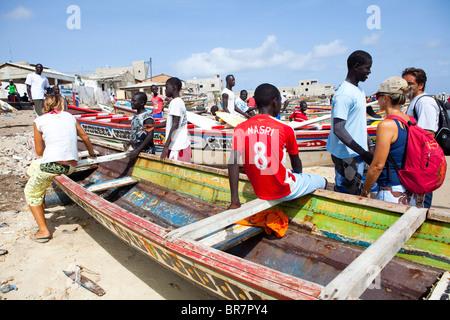 Beachlife plage Yoff Dakar Sénégal Afrique de l'Ouest Banque D'Images