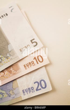 Monnaie Euro Bank Notes Banque D'Images