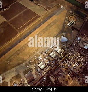 Vue aérienne de l'Aérodrome de Duxford, maintenant Imperial War Museum Duxford et le Musée de l'air américaine, Banque D'Images