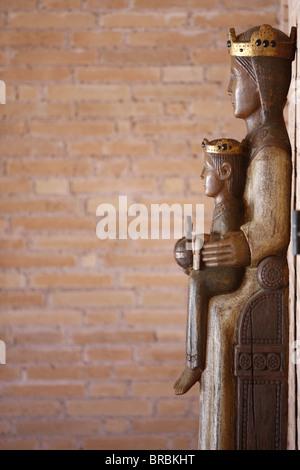 Vierge à l'enfant, Notre-Dame du torrent de vie Monastère, Thoronet, Var, Provence, France Banque D'Images