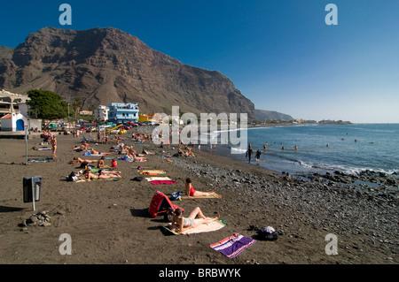 Plage de Valle Gran Rey, La Gomera, Canary Islands, Spain, Atlantique Banque D'Images
