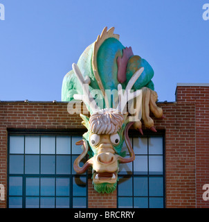 Dragon sur le Childrens Museum à Providence Rhode Island Banque D'Images