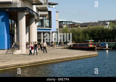 L'Union Canal à Edimbourg Quay, Lochrin Basin, Édimbourg. Banque D'Images
