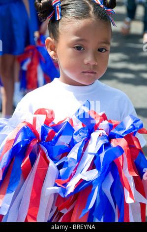 Le jour de l'indépendance du Costa Rica Ciudad Colon Central Valley Banque D'Images