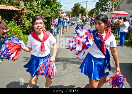 Indépendance day parade Ciudad Colon vallée Centrale Costa Rica Banque D'Images