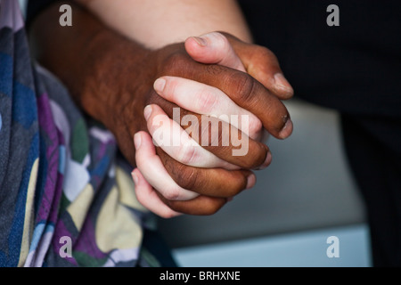 Couple interracial à Washington DC Banque D'Images