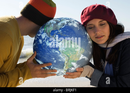 Concept de l'écologie, à l'écoute de la terre Banque D'Images