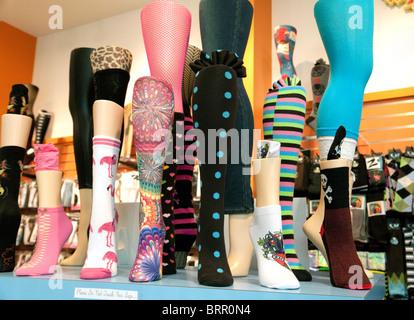 Chaussettes en vente dans une boutique de chaussettes, les boutiques de l'hôtel Mandalay Bay, à Las Vegas USA Banque D'Images